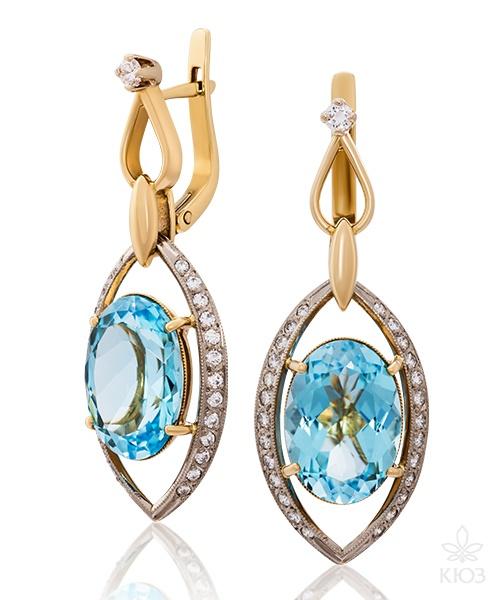 Сережки з діамантами – вишуканий подарунок для коханих.
